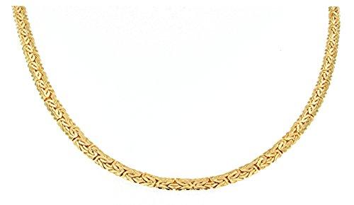Ovale Königskette vergoldet 5 mm Länge 50 cm Halskette Goldkette Herren-Kette Anhängerkette Damen Geschenk Schmuck ab Fabrik Italien tendenze BZGOV5-50