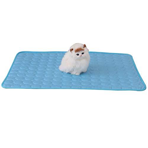 Mingdoo Sommer Kuhlmatte für Hunde und Katzen Kühlkissen Hundedecke Kühlpad Selbstkühlende Matte - Blau, 100 * 72cm