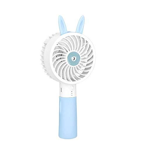 Spray Fan, Handheld luchtbevochtiger, 3 niveaus van windsnelheid Replenish Water zonder Noisesuitable voor Office, Outdoor, Reizen,Blue