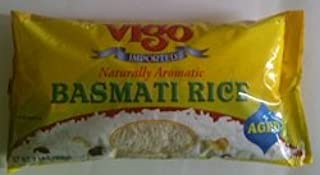 Vigo Imported Naturally Aromatic Basmatic Rice Aged (3 Pack) 2lbs Each Bag - Product of India