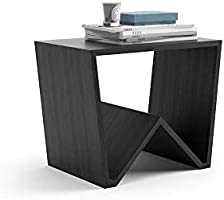 Mobili Fiver, Table Basse Emma, Frêne Noir, 50 x 33 x 40 cm, Mélaminé, Made in Italy