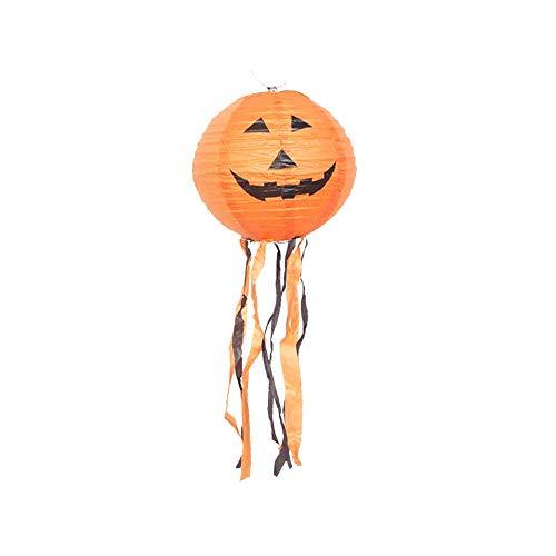 Amcool -Halloween Deko Laterne 35cm LED 3D Papier Lampions Kürbis Skelett Chinesische Laternen Led Lampions,Halloween Deko Innen und Außen Party Garten Dekoration