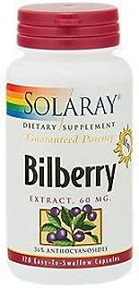 Solaray - Bilberry Extract, 120 capsules