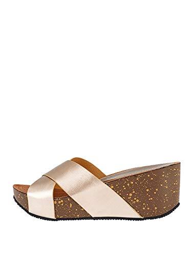 Marypaz, Sport-Sandalen aus Metall, mit Trägern, für Damen, goldfarben, Gold - gold - Größe: 41 EU