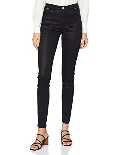 Morgan Pantalon Enduit PALINA Casual Pants, Noir, T36 Womens