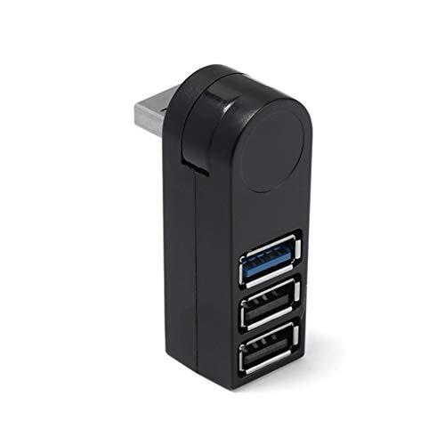 LXSMXJ 1 UNID Alta Velocidad USB 2.0/3.0 HUB Multi USB Splitter 4 Port EXPANJERO MÚLTIPLE USB Expansor Accesorios para computadora para computadora portátil PC (Color : Black)