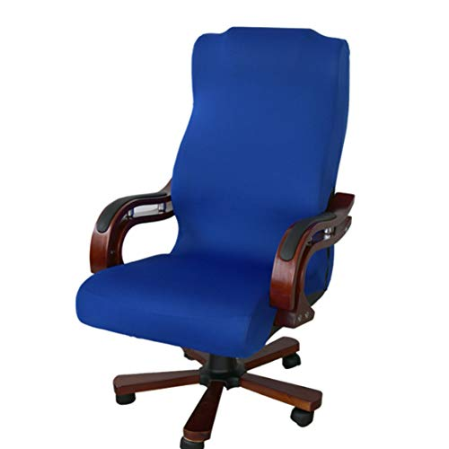 Z-Y Stoel hoes Seat Hoezen Bureaustoel Covers for Computer Stoel L/M/S verwijderbare Stretch Rotating liftstoel Covers (niet inclusief voorzitter) #z (Color : Blue, Specification : M)