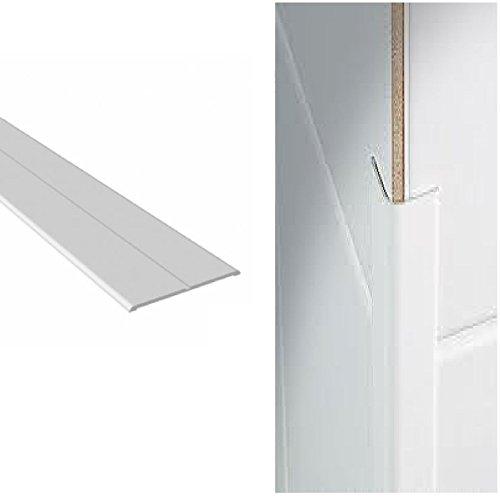 Weiße PVC-KunststoffFlexi Flexible Winkelleisten 25mm x 25mm x 2.5 Meter Länge