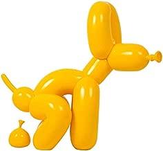 Statues-Li New American Art Production Jeff Koons Shiny Balloon Dog Resin Figures Handmade Balloons Dog Figurine (Color : Yellow)