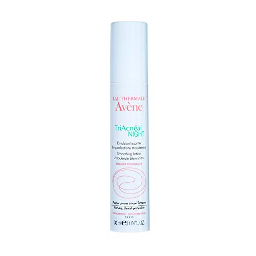 Eau Thermale Avene TriAcneal NIGHT Smoothing Lotion for Adult Acne Prone, Retinaldehyde, Non-Comedogenic, 1 oz.