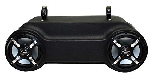 Polaris RZR 1000 Bluetooth Sound Bar with 4 LED Speakers - 2 in Front, 2 in Rear