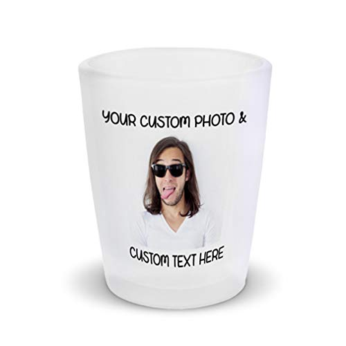 Shot Glasses Bar Accessories Custom Personalized Photo Picture & Text Alcohol Bar Supplies 1 Shot Ceramic 2 Oz