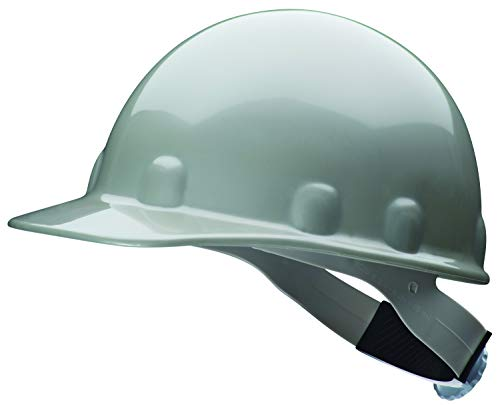 Fibre-Metal by Honeywell SuperEight Thermoplastic Cap-Style Hard Hat with 8-Point Ratchet Suspension, Gray - E2RWGY