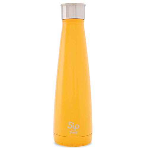 S'ip by S'well Stainless Steel Water Bottle - 15 Fl Oz - Orange Cream Taffy - Double-Layered Vacuum-Insulated Keeps Food and Drinks Cold and Hot - with No Condensation - BPA Free Water Bottle