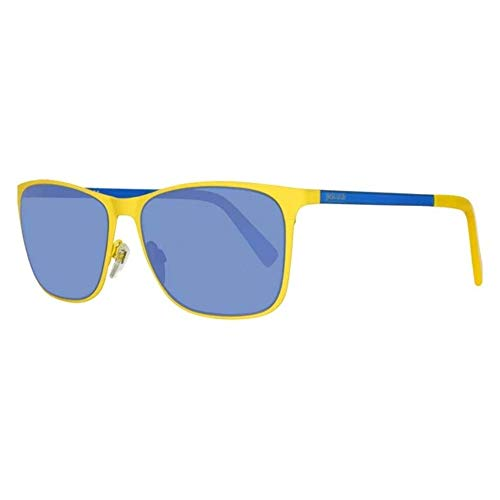 Just Cavalli Jc725s C57 Gafas de Sol Hombre JC725S-5741X, 41x (Yellow/Other/BluMirror), Talla Unica Unisex-Adult