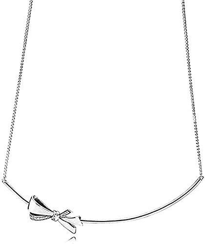 LBBYLFFF Collar de Moda 925 Collares de Plata Flor corazón Colgantes Collar Pulseras para Mujeres Fiesta Boda joyería Regalos
