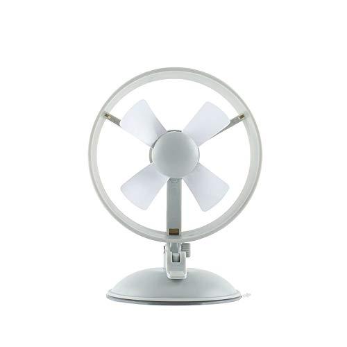 Mini ventilador de escritorio portátil ventilador Ventosa Ventilador del molino de viento Sin cubierta del ventilador 2 Engranaje 4 Palas Ventilador de mesa redonda Ventilador del dormitorio del hogar