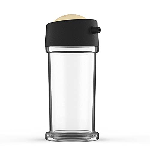 jijunpinpai Botella de condimento, botella de salsa de soja, botella de vinagre, engrasador de cocina para el hogar, botella rociadora de plástico de condimento a prueba de fugas, extraíble para limpi