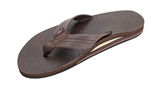 Rainbow Sandals Men's Premier Leather Double Layer with Arch Wide Strap, Classic Mocha, Men's XX-Large / 12-13.5 D(M) US