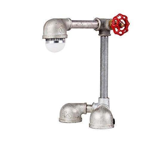 TOYM UK Canal d'eau lampe bar café Loft industriel vent LED personnalisé créative lampe de table décorative (Couleur : Warm light 3W)