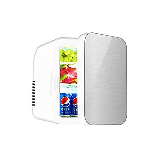 CNAJOI-TDFY 2 En 1 Mini Refrigerador, 22 litros Fridge con Función De Enfriamiento Y Calefacción 12 Voltios En El Encendedor De Cigarrillos Y Enchufe De 220 Voltios, Plateado-Silber  Zweikern
