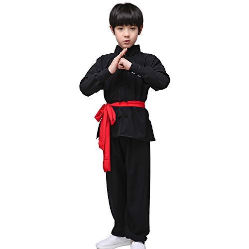 QQI Tai Chi Trainingsbekleidung für Jungen und Mädchen, Kampfsportkleidung für Kinder, Unisex Tai Chi Anzug, Chinesisches Kung-Fu-Leistungskostüm