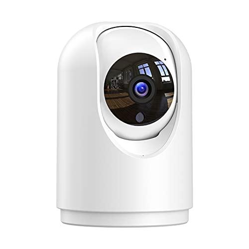 1296P Cámara Vigilancia WiFi Interior, Cámara IP, Visión Nocturna, Aviso de Aplicación, Audio Doble Vía, Admite Tarjeta SD, Detección de Movimiento, Control Remoto, Compatible con Alexa