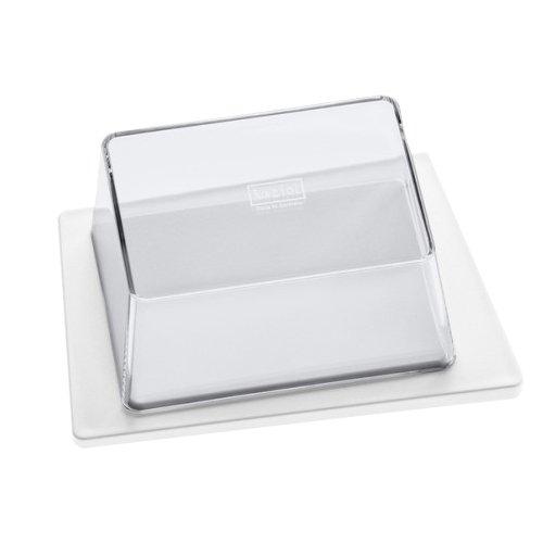 koziol Butterdose  Kant,  Kunststoff, weiß / transparent klar, 12 x 16,5 x 6,9 cm