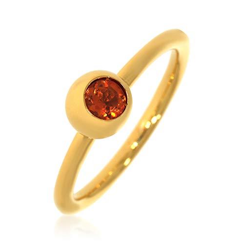 XEN Ring mit 4 mm Madeira Citrin ca. 0,30 ct. gelbvergoldet 56 (17.8)