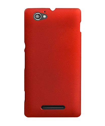 COVERBLACK Plastic Back Cover for Sony Xperia M - C2004 - Red