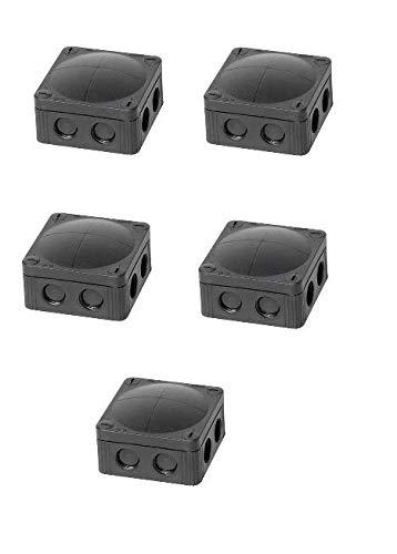 Wiska Combi 308/5/S Gehäuse, IP66, Abzweigdose, 51mm, 85mm, 85mm, PP (Polypropylen), schwarz, 5