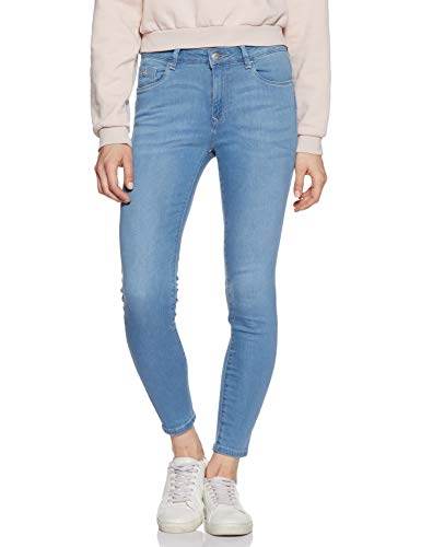 Flying Machine Women's Skinny Fit Jeans (FWESJN1360_Light Indigo_36)