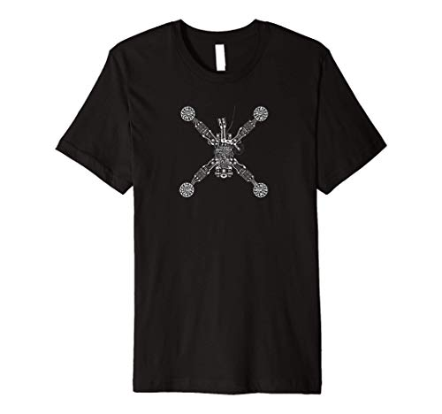 FPV Mini Quadcopter XRay Drone Premium T-Shirt