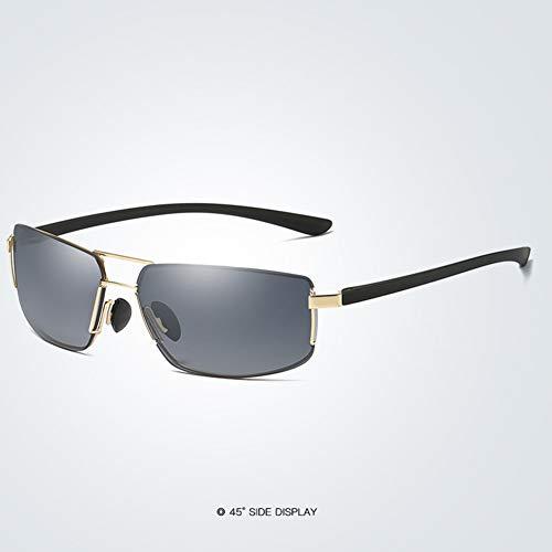 Gymy Gafas de sol para hombre heterosexual anillo línea sin marco serie gafas de sol cuadradas C