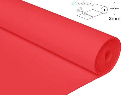 Kadusi Pieza de 12 MTS. de Goma Eva Color Rojo 4001 para Manualidades,Ancho de 90 cm