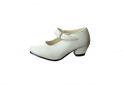 Zapato de sevillanas blanco