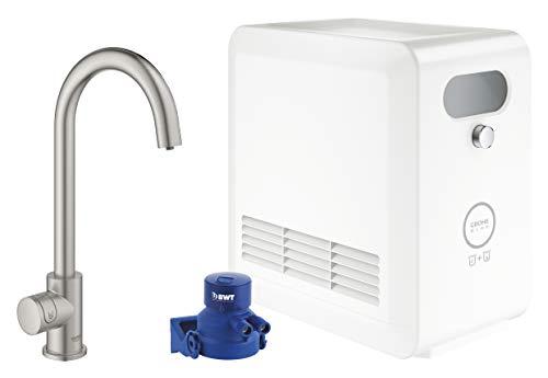 GROHE BLUE Professional   C-Auslauf Kit   mit Bluetooth und WiFi, Supersteel   31302DC2