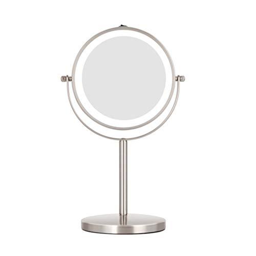 LEZDPP 2019 Amazon Nuevo Maquillaje Espejo con Maquillaje Ligero Espejo Espejo de Maquillaje Luminoso Fabricante