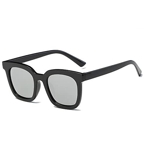Gafas de sol retro tendencia hombres gafas de sol moda personalidad caja gafas de sol, Marco negro.,
