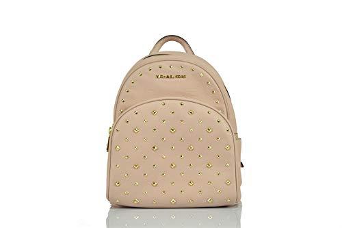 Michael Kors Abbey Backpack Bag Studded Leather (Medium, Ballet Pink)