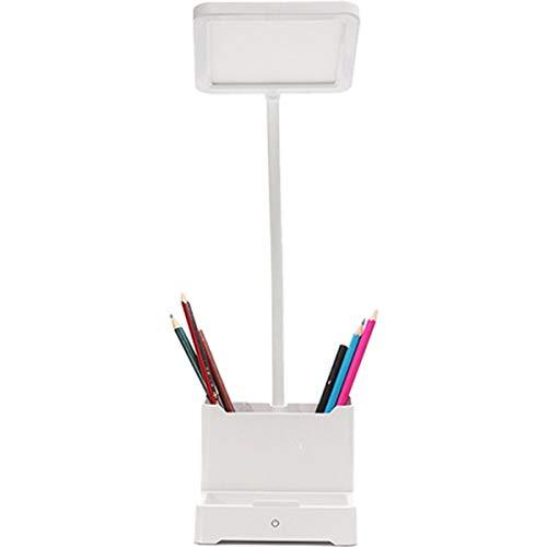 Lámpara De Escritorio Led, Lámparas De Cuello De Cisne Flexibles, 3 Modos De Brillo Que Cuidan La Vista Luz De Escritorio Regulable, Luz De Mesa De Lectura De Libros Para Niños Recargable Usb,