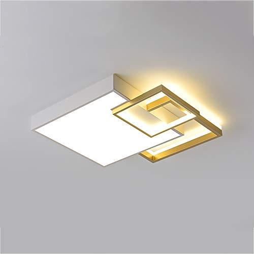 Moderno Luz de techo LED Plafón Regulable Interruptor de pared 36W Square...