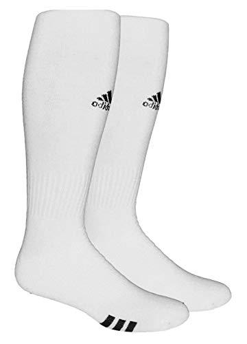 adidas Unisex Rivalry Field OTC Sock (2-Pair), White/Black, 9-13
