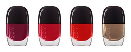 Lov matt Appeal Satin nail lacquer Nagellack Farbe Glitzer und Deckkraft optimale, N ° 130Golden Moment (Gold), 11ml, 0,37fl. oz.