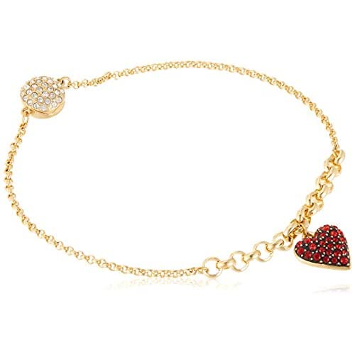 Swarovski Strand Remix Collection Heart, Rosso, Placcato Colore Oro