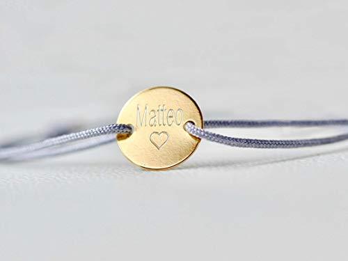 Namensarmband Gravurarmband Freundschaftsband mit Gravur Kindernamen Personalisiertes Armband Einheitsgröße 925 Sterling Silber