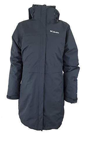 Columbia Women's Long Valley Interchange Omni Heat Waterproof Jacket (Black, L)