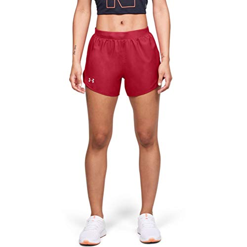 Under Armour Women's Fly By 2.0 Running Shorts , Red (600)/Red , Large
