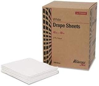 Drape Sheet, 2-Ply, Tissue, 40