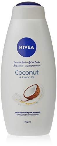 Nivea - Gel de ducha con coco y aceite de jojoba, 1 unidad, 750 ml